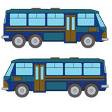 Multicolored bus #1 Royalty Free Stock Photo