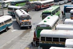 Multicolored bussen royalty-vrije stock afbeelding