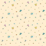 Multicolored butterflies on pale pink background. Stock Photography