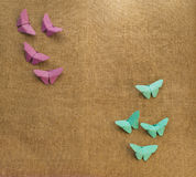 Multicolored butterflies of paper Royalty Free Stock Photography