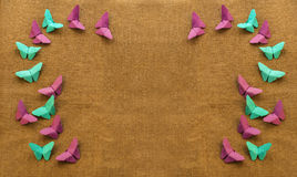 Multicolored butterflies of paper Royalty Free Stock Image