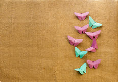 Multicolored butterflies of paper Stock Photo