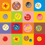 Multicolored buttons Royalty Free Stock Image