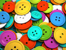 Multicolored buttons for clothing Stock Images