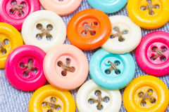 Multicolored buttons. Multicolored buttons for clothing Stock Images