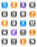 Multicolored buttons for internet and shopping Stock Photo
