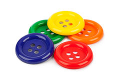 Multicolored buttons Stock Photo