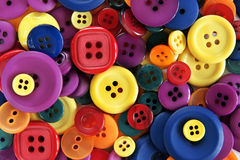 Multicolored Buttons Stock Photography