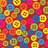 Multicolored buttons of seamless pattern Stock Images
