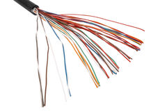 Multicolored cable Stock Photo