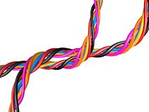 Multicolored cables  Stock Photos