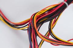 Multicolored cables Royalty Free Stock Photos