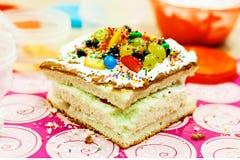 Multicolored cake. Dessert. Cake Dessert Royalty Free Stock Images