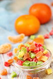 Multicolored candied fruit stock image