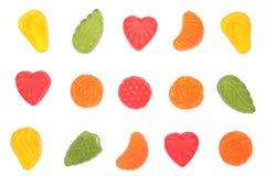 Multicolored candies. Multicolored candies isolated on white background Stock Image