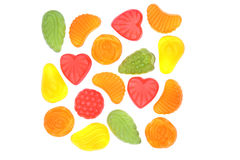 Multicolored candies. Multicolored candies isolated on white background Royalty Free Stock Image