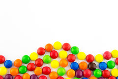 Multicolored candies background Stock Photo