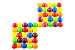 Multicolored candies background. Multicolored sweet candies for background Royalty Free Stock Photos