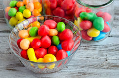 Multicolored candies in bowl Royalty Free Stock Photo