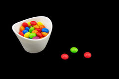 Multicolored candies in a bowl Royalty Free Stock Images