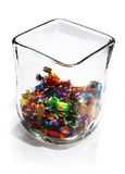 Multicolored candies in glass bowl Royalty Free Stock Photo