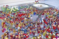 Multicolored candles Stock Photography