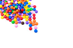 Multicolored candy. Isolated on a white background Stock Photography