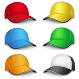Multicolored caps Stock Photo