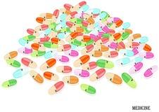 The multicolored capsules. Stock Photo