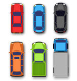 Multicolored car collection  on white Royalty Free Stock Images