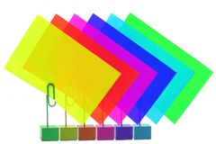 Multicolored Card Holders Royalty Free Stock Images