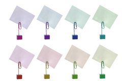 Multicolored Card Holders Stock Photography