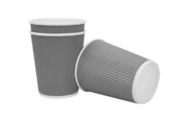 Multicolored  cardboard cups for hot drinks Stock Photography