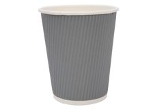 Multicolored cardboard cups for hot drinks Stock Photo