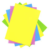 Multicolored cards Stock Photos