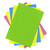 Multicolored cards Royalty Free Stock Photography