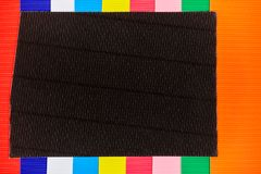 Multicolored cardstock of golfdocument bladen, achtergrondtekst royalty-vrije stock afbeeldingen