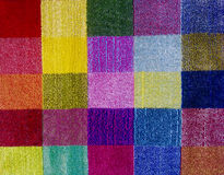 Multicolored carpet texture. Divided in rectangules Royalty Free Stock Photo