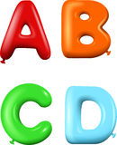 Multicolored Cartoon alphabet Royalty Free Stock Image