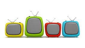 Multicolored cartoon TV isolated on white background Stock Photography