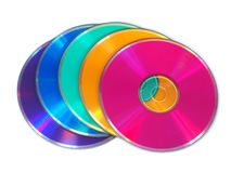 Multicolored CD, schijven DVD Royalty-vrije Stock Fotografie