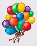 Multicolored celebration balloons Stock Image