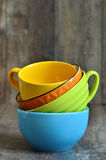 Multicolored ceramic bowl. Stock Images