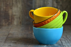 Multicolored ceramic bowl. Royalty Free Stock Images