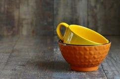 Multicolored ceramic bowl. Stock Photography