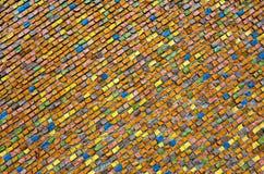 Multicolored ceramiektegelachtergrond Royalty-vrije Stock Afbeeldingen