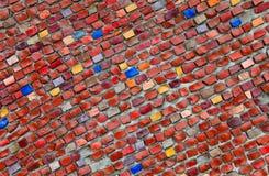 Multicolored ceramiektegelachtergrond Stock Foto's