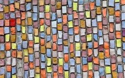 Multicolored ceramiektegelachtergrond Stock Afbeeldingen