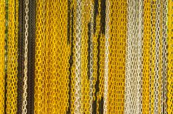 Multicolored chain texture. Close up multicolored chain texture background Royalty Free Stock Images