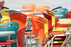 Multicolored chairs Royalty Free Stock Photography